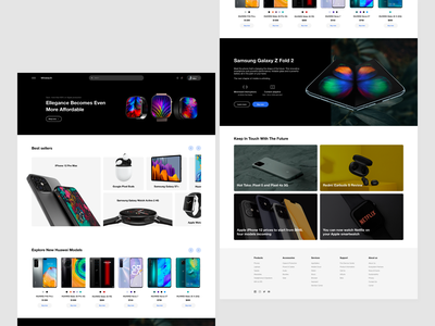 Wiretech tablet earphone mobile phone watch technology website design website concept web ui ui  ux design