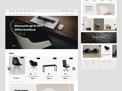 Furniture Ecommerce ecommerce design ecommerce furniture store furniture design furniture website design website concept web ui ui  ux design