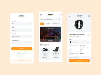Amazon App app design ecommerce app shopping app ebay amazon shopping eccomerce dashboad application ui application design application app ui design uidesign ui  ux ui design