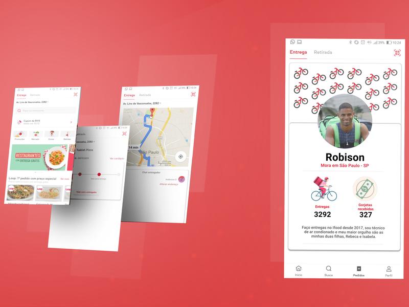 Ifood - Entregadores\Restaurantes food service mobile ui flat website vector design branding ux ui app