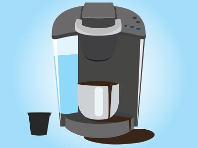 Keurig design keurig minimal coffee kcup water cup vector illustration flat flat style