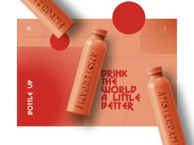 Bottle up clear balance clean simplicity web simple design ux interface ui
