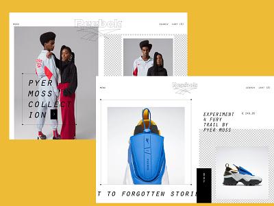 Reebokelicous branding web fashion brutalism design