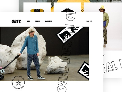 Chaos and dissent through visual propaganda brutalism interface concept webshop simplicity design simple clean ui