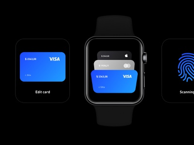 Payment concept on your watch iwatch app simplicity balance simple design clean ui ux interface
