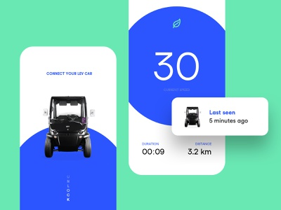Connect your Lev car.. simplicity sketch clear balance simple design clean interface ux ui