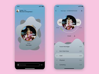 Music Player & Insta Share 2 ux ui music player ui music player music app design app