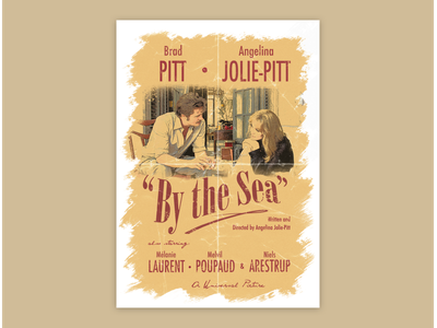 "Vintage Movie Poster - ""By the Sea"" (2015) design photoshop movie angelina jolie brad pitt vintage movie poster alternative movie poster vintage design vintage movie poster"