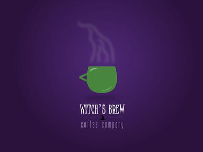 Witch's Brew Coffee logo sketch halloween design halloween coffee minimal branding icon typography vector illustration logo ui design