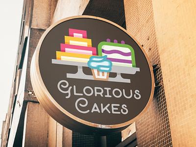 Cake Bakery logo sketch logo design logo icon illustration branding app vector typography design
