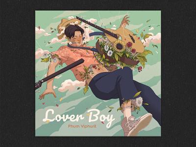 Phum Viphurit - Lover Boy book illustration music illustration illustration drawing album cover design album art album cover album covers album cover art album artwork