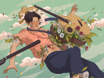 Phum Viphurit - Lover Boy music illustration illustration album artwork album art album covers album cover art album cover