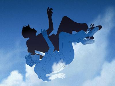 Aditya Sofyan - Blue Sky Collapse music illustration drawing illustrations album cover design album cover art album artwork album art album covers album cover