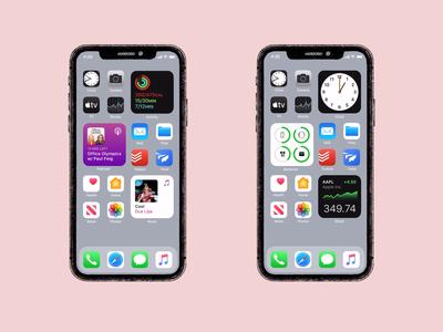iOS 14 widgets figmaprototype autoanimate uidesign ui userinterface smartanimate figma prototype ios14widgets ios14