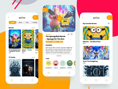 Movie App Concept movie app ux ui