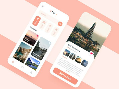 Travel Planner App plan travelling travel mobile app design uidesign ux ui
