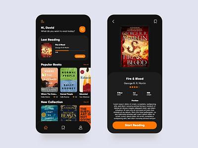 E-Book App idea inspiration reading e-book book visual interface mobile web app ux ui