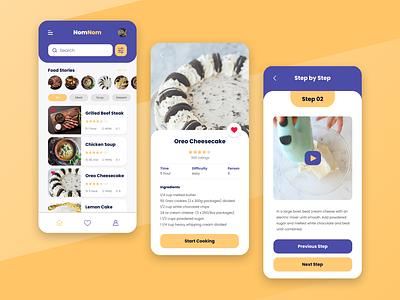 Food Recipe App recipe food web visual interface inspiration idea design mobile app ux ui
