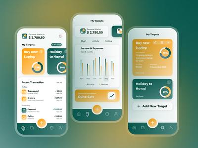 Money Management App (Financial App) inspiration money management finance app finance design mobile app ux ui