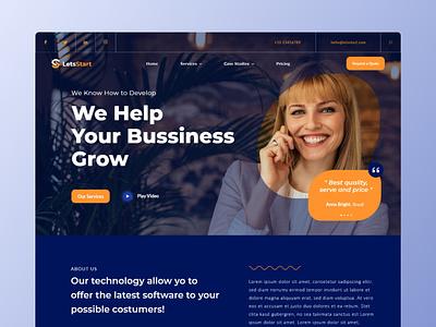 LetsStart - Startup Landing Page company agency digital homepage landingpage website startup