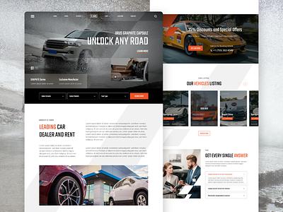 X-Cars - Automotive Landing Page rent dealership dealer race car automotive inspiration idea visual interface web design ux ui