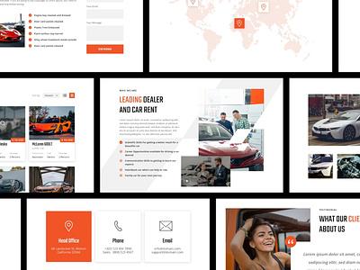 X Cars - Automotive Website cars dealership dealer automotive car idea branding web interface inspiration design app ux ui