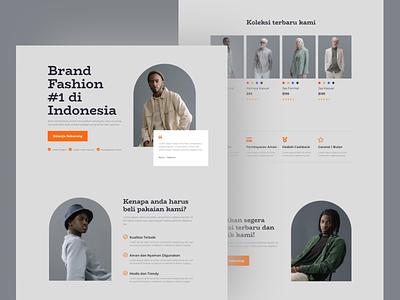 Mens Fashion Landing Page Design cloth apparel fashion mens fashion menswear mens app visual interface mobile web idea inspiration design ux ui