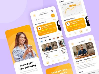 Jagoo - E Course Mobile App quiz exercise study lesson learning e-course course branding logo illustration interface app idea inspiration design ux ui