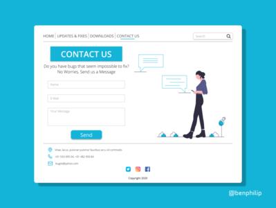 Contact Us contact us design ux ui design dailyui ui