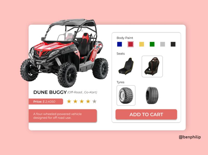 Customize Product ui design customize product simple design design ux ui dailyui