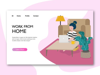 work from home landing page illustration