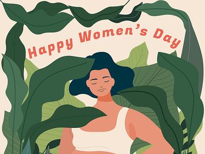 international women day campaign poster vector girl flat art design illustration