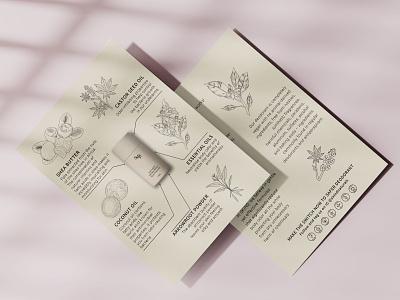 pamphlets design and illustration for natural body care illustrator vector illustration design pamphlets