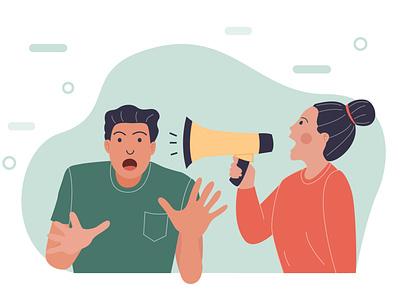 shout out to partner illustrator flat vector design illustration