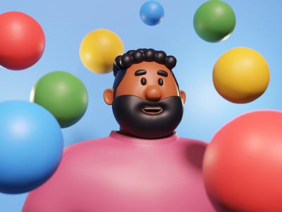 Marty character design character blender blender3d illustration design 3d 3d art b3d