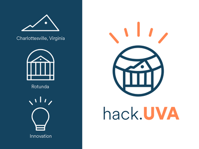 hack.UVA Logo Design Concept icon branding vector illustration design logo