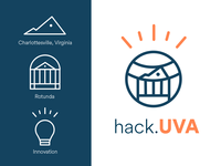 hack.UVA Logo Design Concept icon branding vector illustration design logo