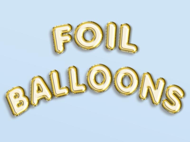 Freebie: Foil Balloon PSD (Editable Text)