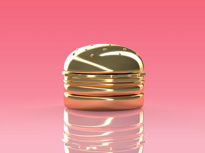3D Golden Burger