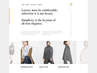 Z. Clean Design fashion site white webdesign design minimal clean
