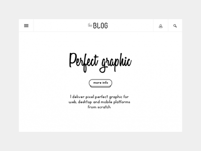The Blog typography white web-site site minimal