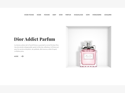Dior Parfum ui site parfum minimal dior