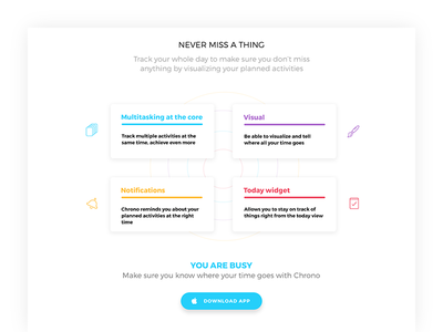 Cronodex. Bottom of the page manager task design ux ui page minimal