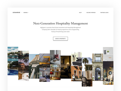 LocalHouse hotel white web ux ui task page minimal design clean