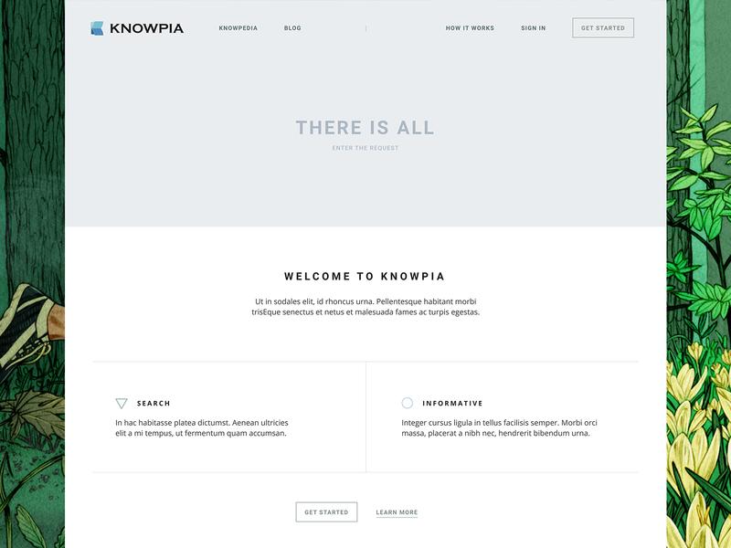 Knowpia branding vector logo illustration dribbble web-design web typography color clean page ux ui white site design minimal