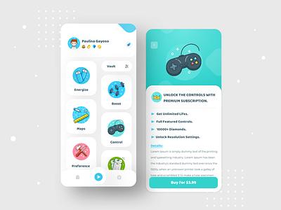 Game UI Exploration vector clean illustration ios android mobile app design ux ui