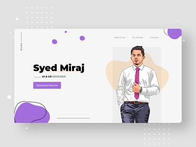 Web Portfolio work in progress clean vector web illustration branding website typography design ux ui