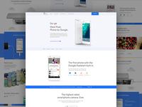 Google Pixel Landing Page re-design