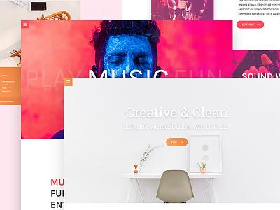 Multiple Landing page Freebie!! design typography lattering type branding free psd landing page web ux ui