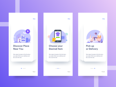 App Tutorial pages for iOS and Android ironsketch animation vector icon illustration branding mobile redesign ios android app ux ui